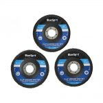 BlueSpot 115mm Flap Disc Set 3pc