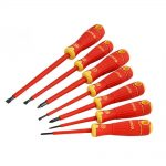 Bahco BAHCOFIT Insulated Screwdriver Set of 7 Slotted – Pozi
