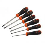 Bahco BAHCOFIT Screwdriver Set of 6 Slotted – Phillips – Pozi