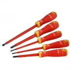 Bahco BAHCOFIT Insulated Scewdriver Set of 5 Slotted – Pozi