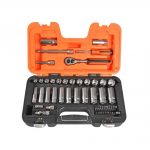 Bahco S330L 53 Pce Metric 1/4in and 3/8in Deep Drive Socket Set