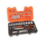 Bahco S560 1/4in and 1/2in Drive Socket Set 56 Piece