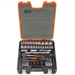 Bahco S800 1/4in and 1/2in Drive Socket Set 77 Piece