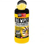 Big Wipes Black Top 4×4 Multi-Purpose Hand Cleaners Tub of 80