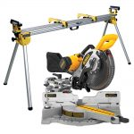 DeWalt DW717XPS Sliding Compound Mitre Saw 250mm 110V DE7023 Mitre Stand
