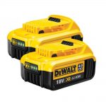 Dewalt DCB182 18v XR 4.0Ah Li-Ion Battery Twin Pack