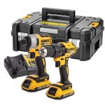 DeWalt DCK2059D2T 18v XR Brushless Twin Pack 2.0Ah Kit
