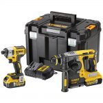 DeWalt DCK2532P2 18v XR Brushless Twin Pack 5.0Ah Kit