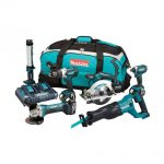 Makita DLX6044PT 18v LXT 6pc Combination 5.0Ah Kit