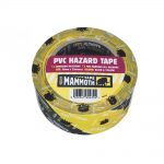 Everbuild PVC Hazard Tape Black Yellow 50mm x 33m