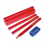 Faithfull FAICPR12S Carpenters Pencils Tube of 12 and Sharpener