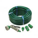 Faithfull Hose 15m with Fittings Spray Gun