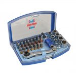 Faithfull 1/4in Socket & Screwdriver Bit Set 42pc
