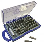 Faithfull Titanium Screwdriver Bit Set Cv 61pc
