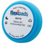 Flexipads 44115 Comppolishing Foam Blue 150×50 Velcro