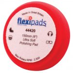 Flexipads 44420 Polishing Foam Red 150 x 50mm Velcro