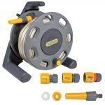Hozelock 2412 Compact Hose Reel 30m + Multi Purpose Hose 15m