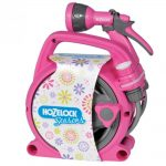 Hozelock Seasons Pico Reel + Spray Gun Pink