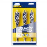 Irwin 6X Blue Groove Wood Drill Bit 3 piece Set