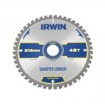 Irwin Construction Circular Saw Blade 216 x 30mm x 48T ATBNeg M