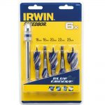 Irwin 6X Blue Groove Stubby Wood Bit Set 5Pc