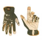Kunys KUN186O One Size Flexgrip Padded Garden Oasis Gloves