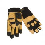 Kunys Hybrid-275 Top Grain Leather Neoprene Cuff Gloves Large