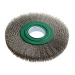 Lessman Wheel Brush D200 x w25-27 x 16 Bore Stainless Steel
