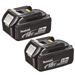 Makita BL1850X2 18v LXT 5.0Ah Li-Ion Battery (Pack 2)