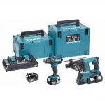 Makita DLX2137PMJ 18v LXT Twin Pack 4.0Ah Kit