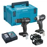 Makita DLX2221BT2 18v LXT Brushless Black Twin Pack 3.0Ah Kit