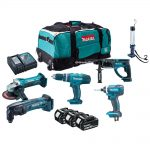 Makita DLX6021M 18v LXT 6-Piece Combi 4.0Ah Kit