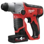 Milwaukee Compact Cordless SDS 2 Mode Hammer 12v 2×4.0ah Li-Ion