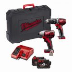 Milwaukee M18BPP2C-402 18v Twin Pack 4.0Ah Kit