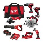 Milwaukee M18BPP7A-402B 18v 7pc Combination 4.0Ah Kit
