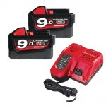 Milwaukee M18NRG-902 9.0Ah Li-Ion Battery & Charger Kit