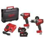 Milwaukee M18ONEPP2A-502X 18v FUEL 5.0Ah Twin Pack