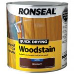 Ronseal Woodstain Quick Dry Satin Walnut 2.5 Litre