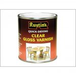 Rustins Quick Dry Coloured Varnish Gloss 1 litre clear