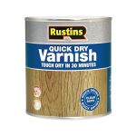 Rustins Quick Dry Coloured Varnish Satin 1 litre clear
