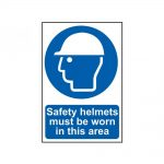 Scan Safety Helmets Must Be Worn In This Area – PVC 200 x 300mm
