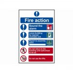Scan Fire Action Procedure – PVC 200 x 300mm