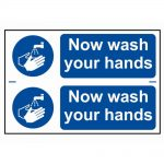 Scan Now Wash Your Hands – PVC 300 x 200mm