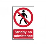 Scan Strictly No Admittance – PVC 200 x 300mm