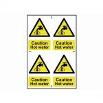 Scan Caution Hot Water – PVC 200 x 300mm