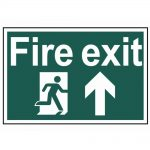 Scan Fire Exit Running Man Arrow Up