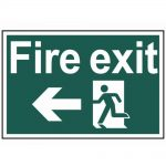 Scan Fire Exit Running Man Arrow Left – PVC 300 x 200mm