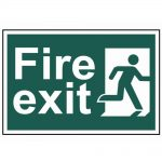 Scan Fire Exit Man Running Right – PVC 300 x 200mm