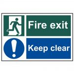 Scan Fire Exit Keep Clear – PVC 300 x 200mm