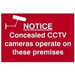Scan Notice Concealed CCTV Cameras Operate On These Premises – PVC 300 x 200mm